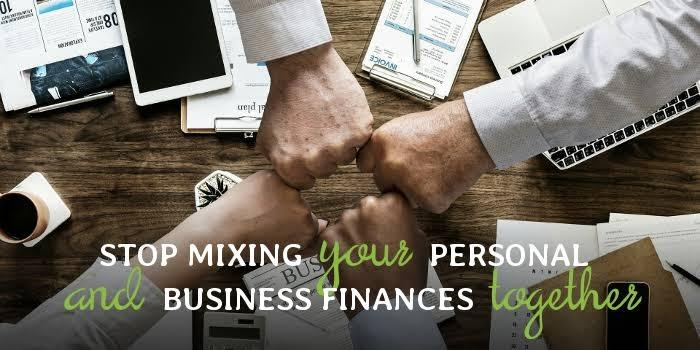 Mixing your finances with business accounts